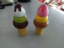 New Wooden Baby Toys 2piece Mini ice cream Educational Gifts