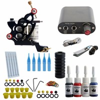 Completed Tattoo Kit Professional Tattoo Set High Quality Tattoo Machine Gun For Liner And Shader Permanent