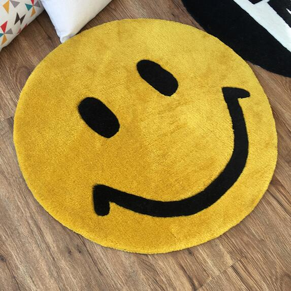 Super Thick Smile Face Round Carpet area rugs kids room bathing rug bedroom mat non slip