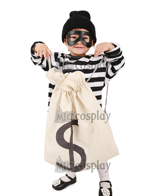 Kids Burglar Robber Costume  sc 1 st  AliExpress.com & Kids Burglar Robber Costume-in Girls Costumes from Novelty u0026 Special ...