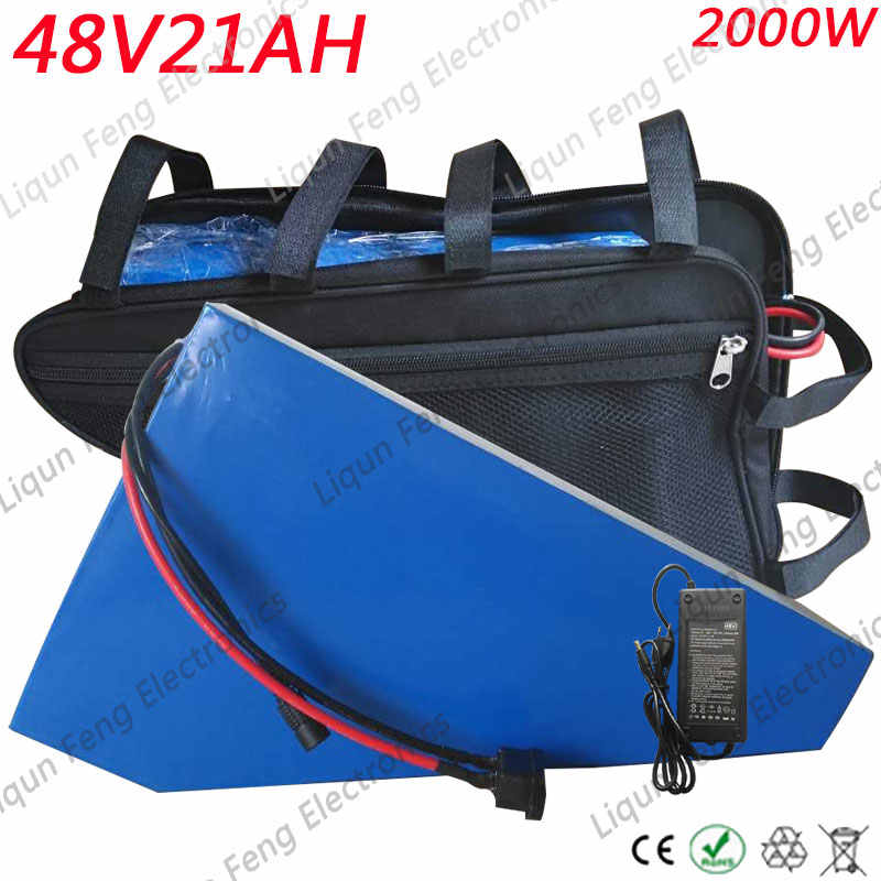 Free customs duty 48V2000W lithium battery 48V 20AH ebike battery 48 V 20AH electric bike battery with 30A BMS 54.6V 2A Charger