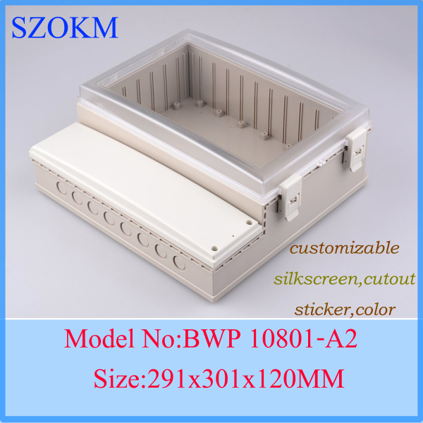 1 piece plastic project box plastic enclosure waterproof box plastic enclosures for electronics 291x301x120 mm 4pcs a lot diy plastic enclosure for electronic handheld led junction box abs housing control box waterproof case 238 134 50mm