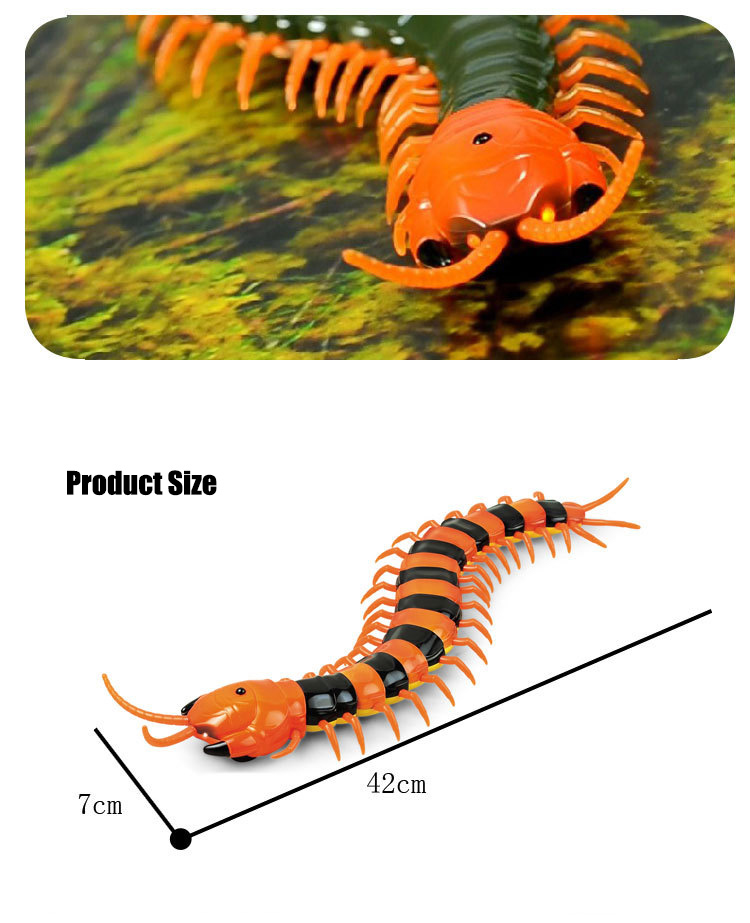 Dog Toy Electric RC Centipede Fake Insect Remote Control Centipede Creative Electric Tricky Funny Cat Toy For Cat 13