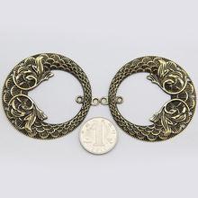 Сплав Кулон венок бронзовые/тибетские серебряные аксессуары