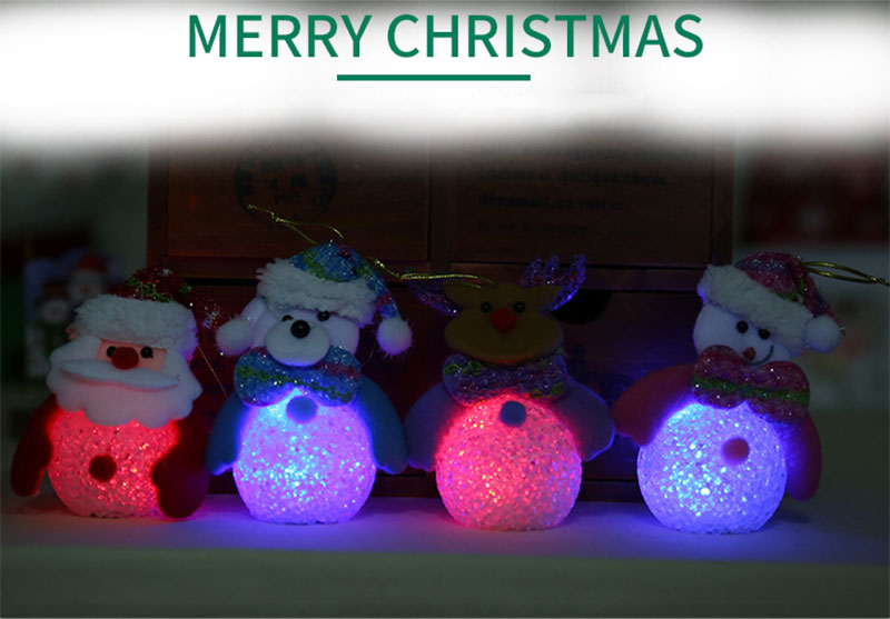 New Year Christmas Decoration for Home accessories Glowing EVA Snowman Nightlight Snowman Christmas Tree gifts Navidad Natal (10)