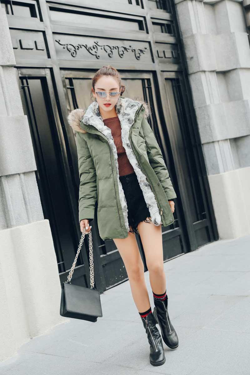 BJCJWF nueva chaqueta de invierno para mujer de alta calidad de piel de mapache cuello largo abrigo grueso cálido con capucha Unisex Parkas Plus tamaño 5XL-in Plumíferos from Ropa de mujer    3