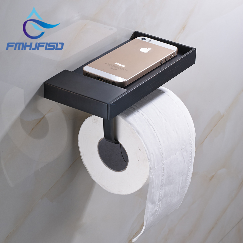 Free Shipping Wholesale And Retail Promotion Modern Square Oil Rubbed Bronze Wall Mounted Toilet Paper Holder Tissue Hanger hot sale wholesale and retail promotion oil rubbed bronze wall mounted bathroom toilet paper holder tissue bar holder