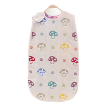 Children Sleeping Bag 45*80cm 6 Layers Muslin Cotton 2-4 Years Sleeveless Toddler Girls Boys Sleepers Children's Clothing