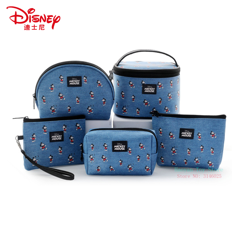 Baby Care Adroit Genuine Disney 5pcs/set Blue Pvc Mickey Multi-function Women Bag Cosmetic Wallet Purse Bag Fashion Mummy Handheld For Girls Products Are Sold Without Limitations