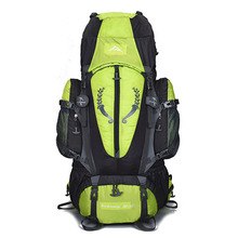 80+5LMountaineering camping backpack large outdoor nylon waterproof sports new