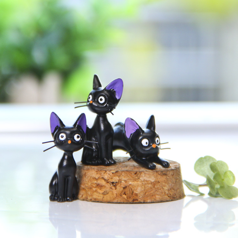 1Pcs Resin Kiki 39 s Delivery Service Cat Figurines White Animal Ornaments Black Cat Kiki Gigi Miniatures Decoration Crafts Gifts in Figurines amp Miniatures from Home amp Garden