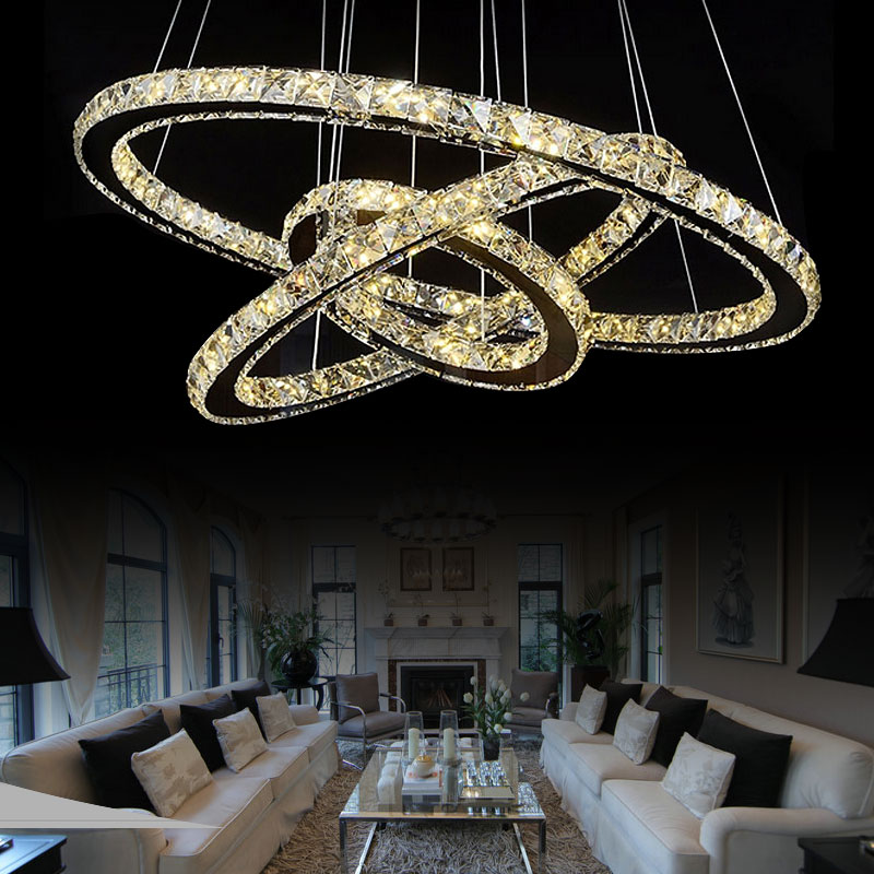 modern pendant chandelier lighting. aliexpresscom buy modern led crystal pendant chandelier light for dining room 1 ring 2 3 diamond k9 ceiling lamps from reliable lighting