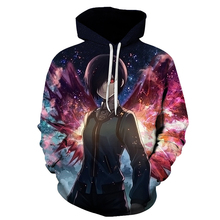 Tokyo Ghoul 3d Hooded Sweatshirts harajuku style Hoodies 2017 Autumn New Fashion Tokyo Ghoul high-quality Men Women Hoodie(China)