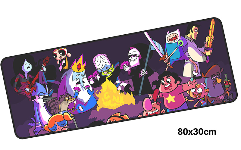 Adventure Time mousepad gamer 800x300X3MM gaming mouse pad locked edge notebook pc accessories laptop padmouse ergonomic mat