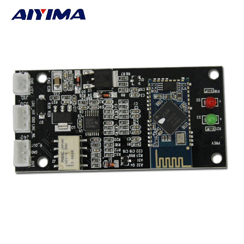 Aiyima 4.2 Bluetooth Receiver Board CSR64215 Amplifers Bluetooth Module Lossless APT-X Wireless Bluetooth Audio DIY lusya csr64215 amplifier 4 2 apt x wireless lossless bluetooth audio stereo receiver board 6 36v a7 007