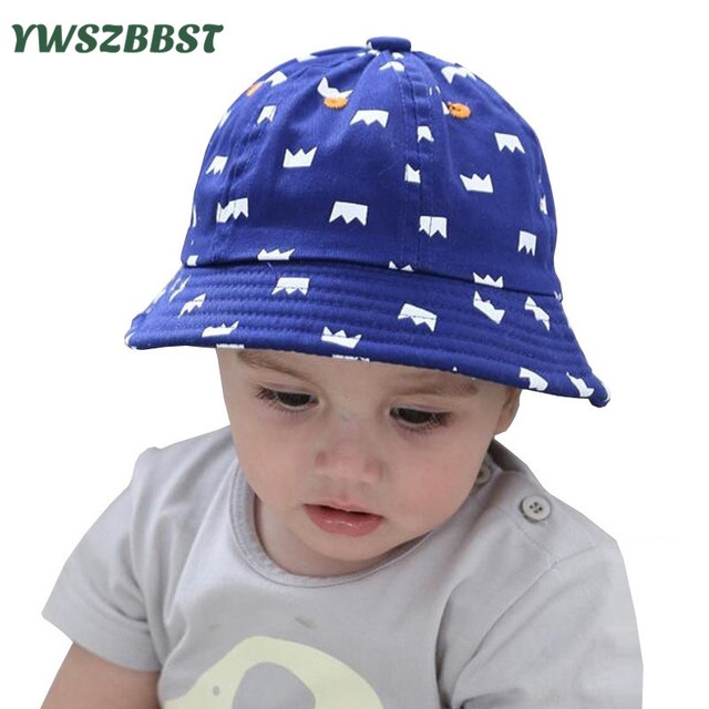 2017 New Kids Hats Baby Sun Hat Summer Caps for Boys Girls Nice Crown  Printing Infant Sun Cap for 5 Months -3 years old 80d499ab567