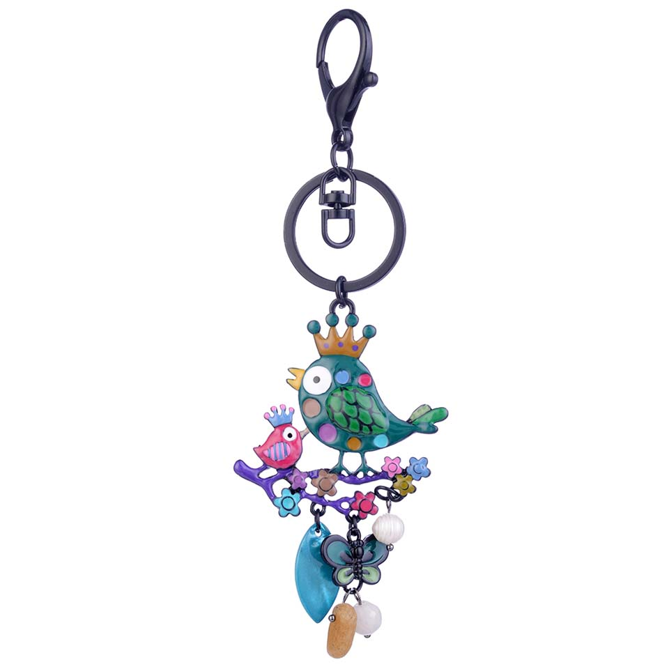Cring Coco 2019 New Design Bird Butterfly Keychain for Women Crystal Key Chain Ring Holder Keyring Keychains Jewelry Accessories in Key Chains from Jewelry Accessories