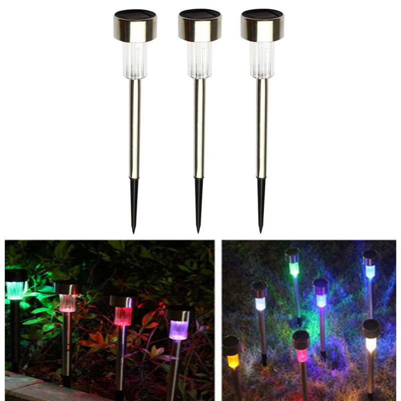 AIMIHUO 5PCS LED Solar lawn lamp Outdoor Solar Garden Light Colorful stainless steel lawn lamp white/RGB light battery includeAIMIHUO 5PCS LED Solar lawn lamp Outdoor Solar Garden Light Colorful stainless steel lawn lamp white/RGB light battery include