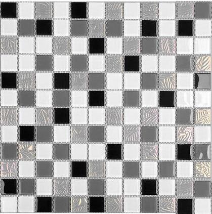 Black White puzzle 3D iridescent Crystal glass mosaic,Backsplash Swimmingpool tile,Kitchen,Bathroom Home decor sticker,LSNSJ09 пазлы crystal puzzle 3d головоломка вулкан 40 деталей