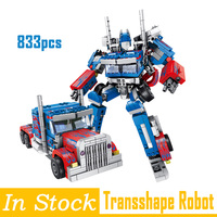 Legoing Technic Robots Transformation 384PCS 2in1 Optimus Transform Prime Robot Car Optimus Prime War Blocks Models Car Truck