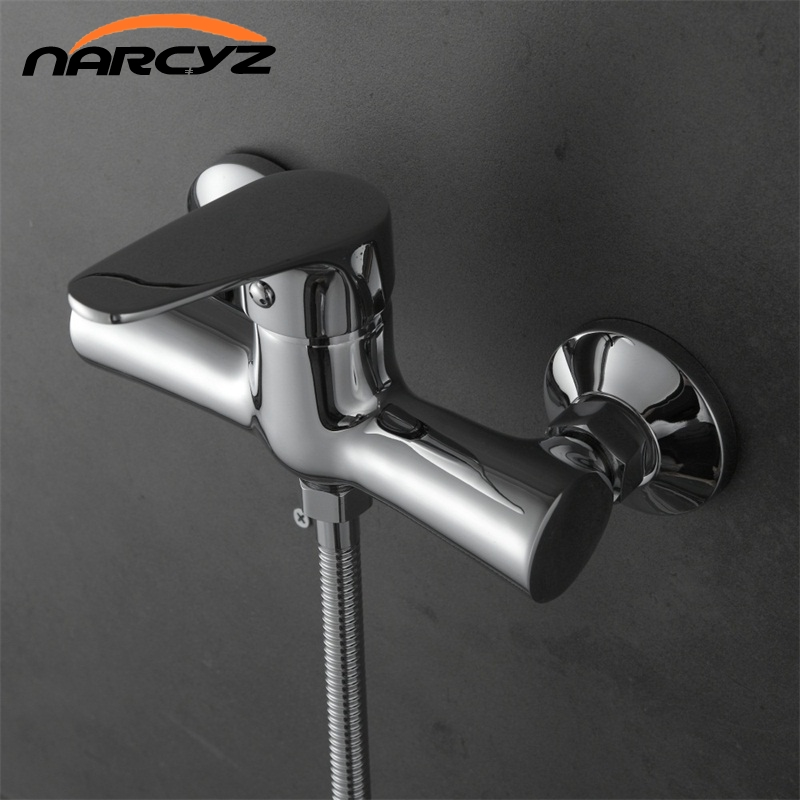 Narcyz Classic Style Single Handle Solid Brass Bathroom Faucet Shower Tap Cold and Hot Water Mixer XT326 micoe hot and cold water basin faucet mixer single handle single hole modern style chrome tap square multi function m hc203