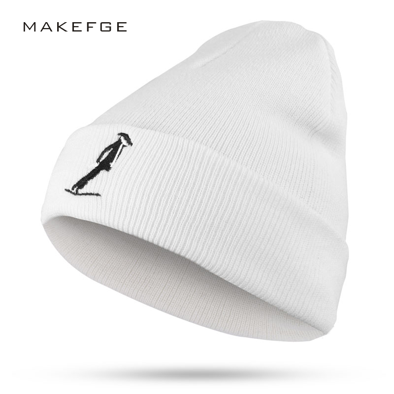 Autumn and winter men's and women's universal knit new cotton hats exquisite embroidery cotton caps warm Beanies ski Skullies