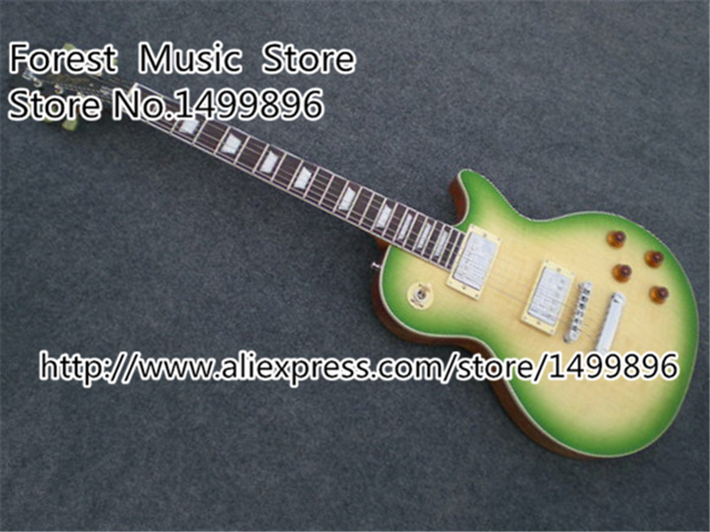 Chinese Musical Instruments Chrome Hardware LP Custom Electric Guitar Lefty Available