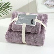 Mercan Kadife Emici banyo havluları için Yetişkin Yüz Havlu banyo havlusu takımı Yumuşak Rahat Banyo Havlusu Seti 70*140 11 Renkler