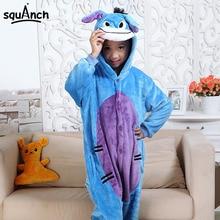 Animal Cartoon Onesie Child Lovely Pajama Donkey Eeyore Costume Party Suit Boy Girl Sleep Onsie Winter