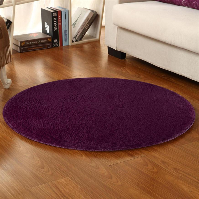 80cm Soft Coral Velvet Round Rug Anti-skid Doormat Carpet Bath Living Room Rug Easy to clean Hot sale good quality C0413#30