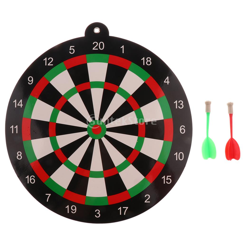 Party Game Toy for Kids Adult 9.45 inch Magnetic Dartboard with 2 Darts