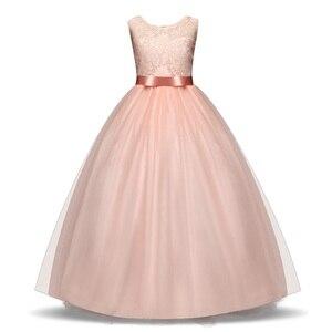 Image 5 - JaneyGao פרח ילדה שמלות לחתונה מסיבת ארוך סגנון נערה שמלת ראשית הקודש תחרות שמלות לבן סגול חם