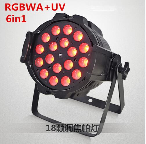 18x18W RGBWA UV 6in1 Led Zoom Par Light led effect light  dj dmx lights  disco light free shipping dj par cans rgbwa uv 6in1 18x18w led par light aluminum alloy shell par led disco dmx stage effect lights