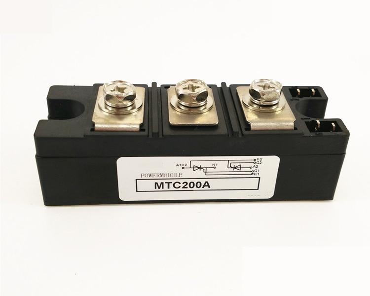 SCR MTC 200A 600V/800V/1000V/1200V/1400V/1600V Thyristor module shanghai chun shu chunz chun leveled kp1000a 1600v convex plate scr thyristors package mail