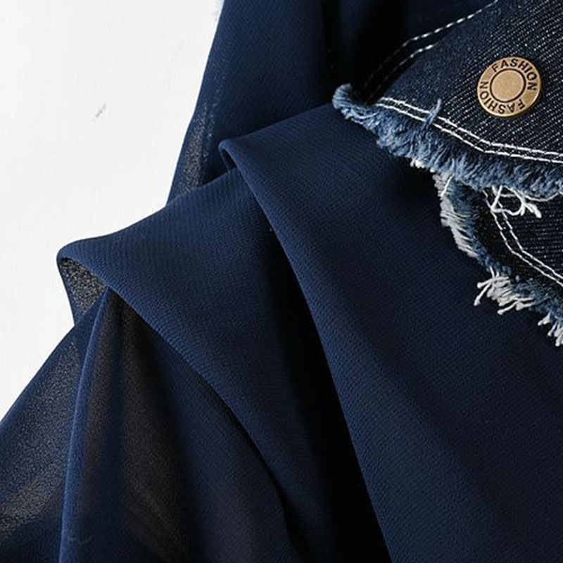 XITAO, рождественское женское джинсовое мини-платье, летнее, солнцезащитное, тонкое, перспективное, мини-платье размера плюс, сексуальная одежда Cardgan LJT3808