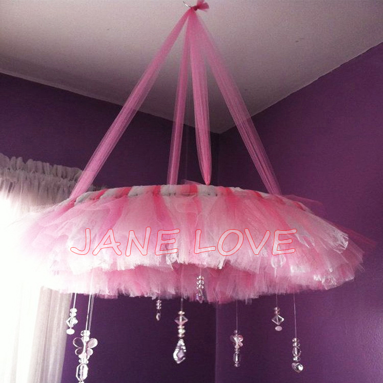 Pink Tulle Swag