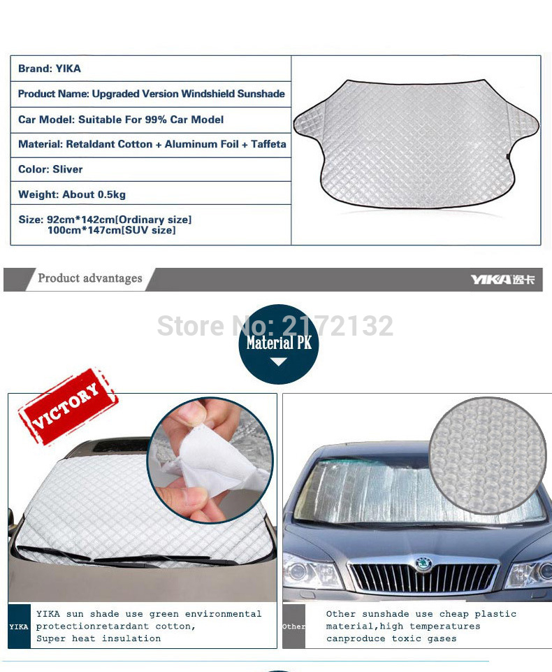 Car Covers Sunshade Reflective Foil Car Windshield Snow covers Blocked Anti-UV Eclipse Sun Shade Mesh Cover For car accessories