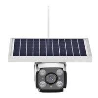 outdoor waterproof solar powered hd 1080p ip wireless wifi video security camera 4g with lte sim card radar detector pir sensor