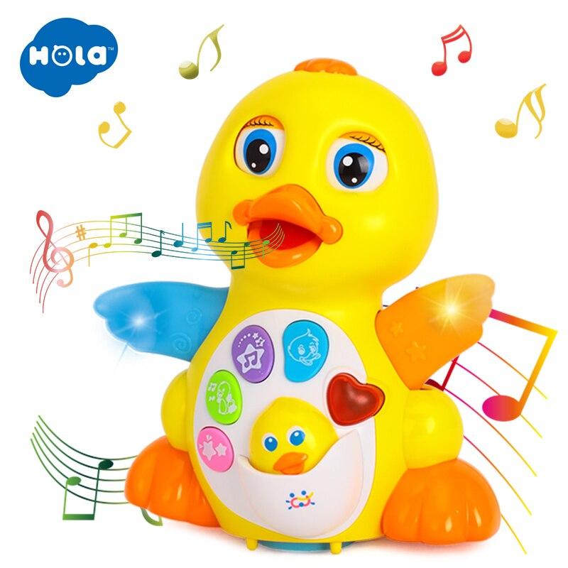 Bailando pato batería operado juguete figura de acción de juguete con luces intermitentes eléctrica Universal bebé Musical Juguetes