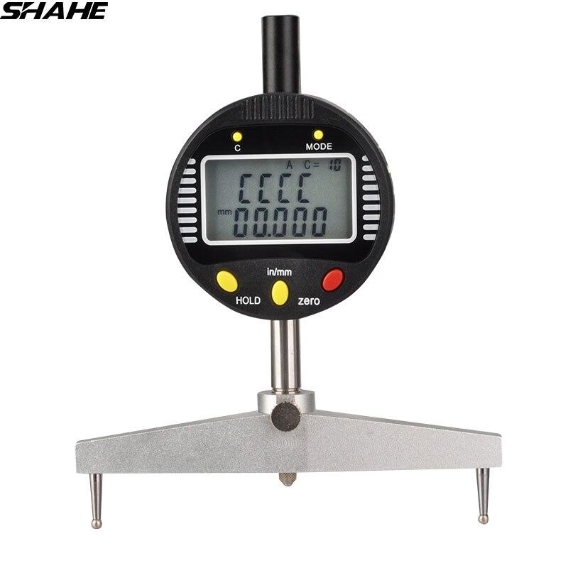 Alta precisão calibre raio digitais indicador digital de raio com cinco garras de medição
