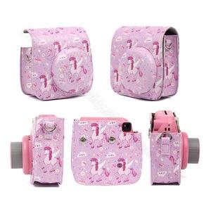 Image 5 - Fujifilm Instax Mini Camera Case Quality PU Leather Shoulder Bag with Strap for Fuji Instax Mini 9, Instax Mini 8 Camera