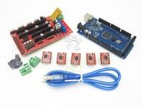 Free Shiping RAMPS 1 4 3 D Printer Control Panel Kit Mega 2560 R3 1pcs RAMPS