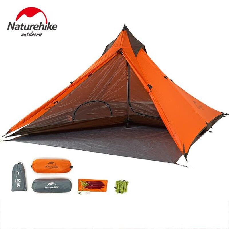 6170817f1 Naturehike 1 Pessoa Barraca de Camping 20D 4 Temporada Barraca Mochila de  Nylon Ultraleve Caminhadas Trekking Tendas Para Esportes Ao Ar Livre Viagem