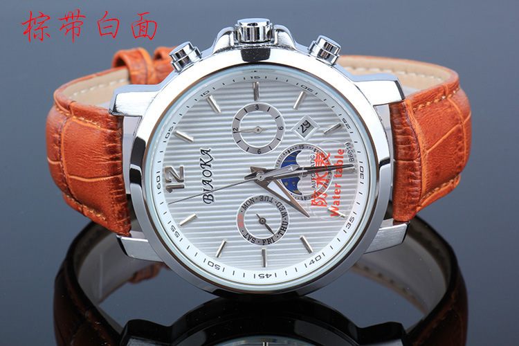 2016 BIAOKA Brand Watches Can soak 100m ATM waterproof calendar men s mechanical watches Leather Wristwatches