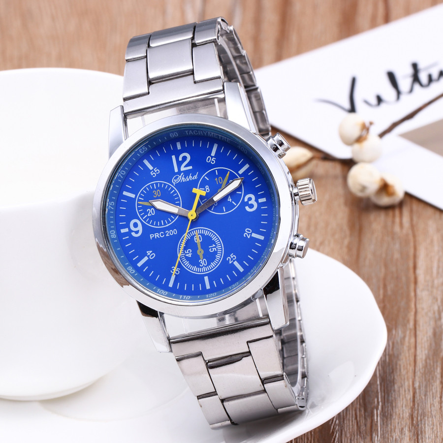 Neutral Quartz Analog Wristwatch Steel Band Sports Watches