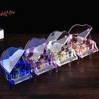 K9 Crystal Piano Music Box Eight Music Box Customize Frame Clockwork Romantic Creative Figurines Crafts Ornaments Birthday Gift