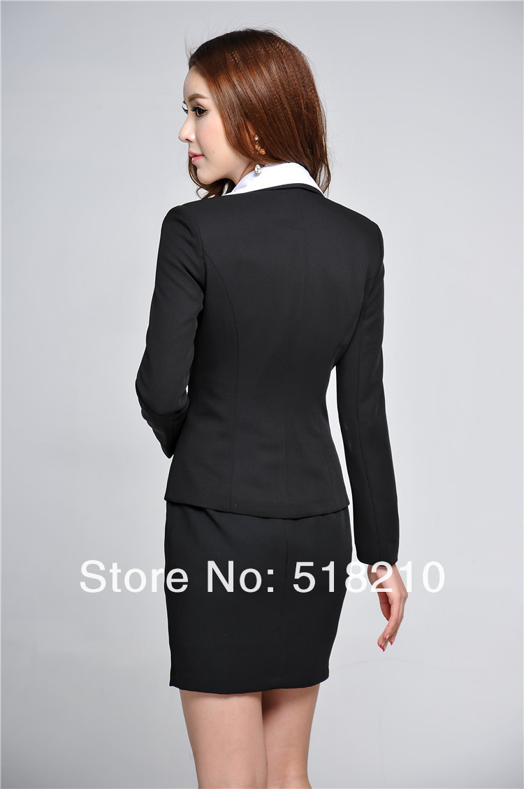 161da0a5c6df Newest Plus Size 3XL Spring Autumn Professional Business Women Work Wear  Skirts Suits Blazer + Skirt For Office Ladies Outfit