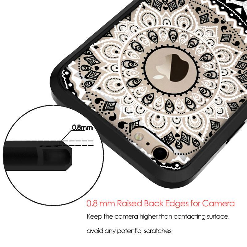 GrandEver Luxury Case for iPhone 6 6s Plus Case Retro Totem Mandala - Բջջային հեռախոսի պարագաներ և պահեստամասեր - Լուսանկար 2