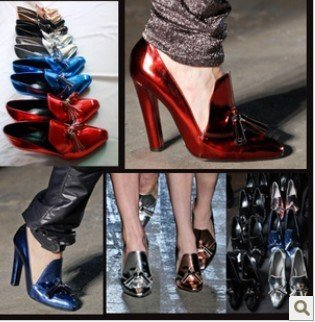 free shipping,2012 Korea sexy retro shining tassel pointed toe high heesls women shoes pumps,woman pumps,lady's shoes heels