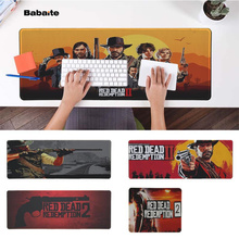 Babaite Simple Design Red Dead Redemption 2 Natural Rubber Gaming mousepad Desk Mat PC Computer